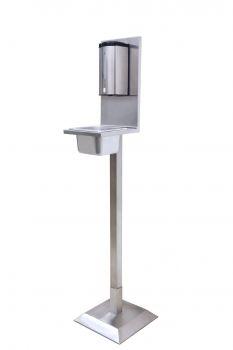 SKW Automatischer Hygiene Stand - Desinfektionsstand komplett aus Edelstahl
