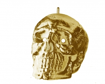 Ice Chiller Glasvereiser Totenkopf Deluxe gold