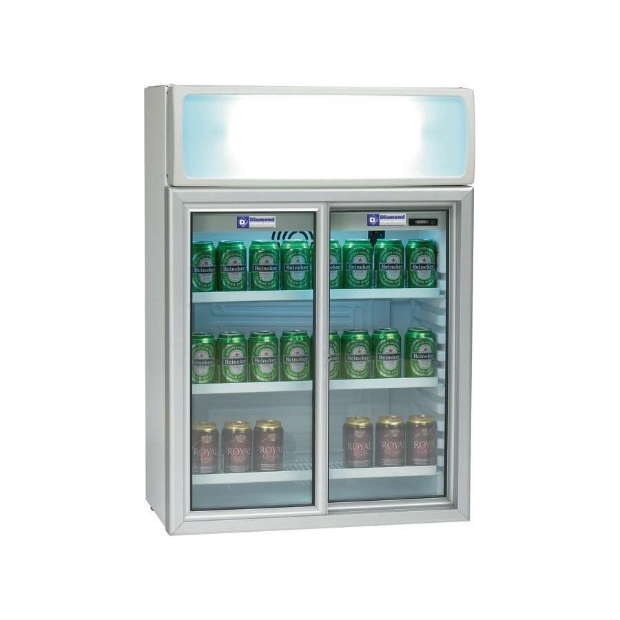 Getränkekühlschrank 11/T - 100 Liter, Schiebetüren - Gastro Store